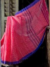 Pink Graceful Cotton Saree - Cotton Koleksi