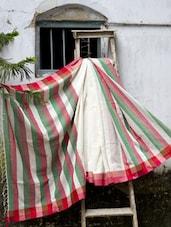 Multiple Stripes Cotton Saree - Cotton Koleksi