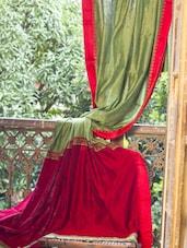 Green Resham Cotton Saree - Cotton Koleksi