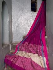 Rich Pink Noel Cotton Saree - Cotton Koleksi
