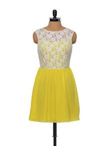 Besiva Lace Yellow Dress - Besiva