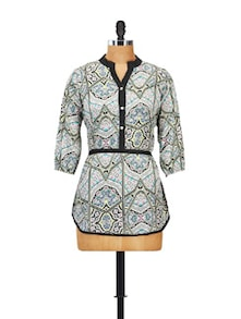 Multicoloured Printed Tunic - Ayaany