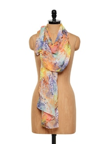 Multicoloured Printed Scarf - J STYLE