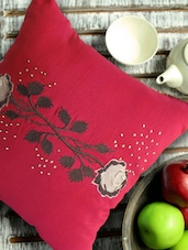 Pink Floral Cushion Cover - Per Inch