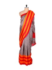 Checks And Colors Bhagalpuri Silk Saree - Fabdeal