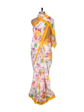 Floral Printed Georgette  Saree - Fabdeal