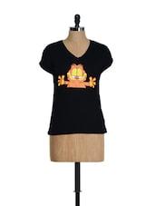 Garfield Black T-shirt - Golden Couture
