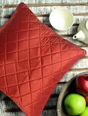 Vermillion Quilted Cushion Cover ((Set Of 2) Of 2) - Aapno Rajasthan