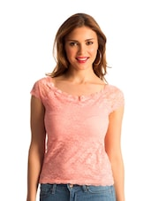 Baby Pink Lace Body-Con Top - PrettySecrets