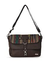 Stunning Brown Sling Bag - YELLOE