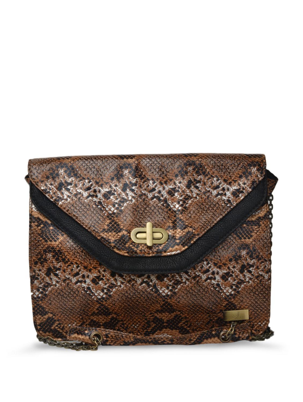 Classic Animal Print Leather Sling Bag - YELLOE