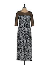 Arrow Print Monochrome Dress - Magnetic Designs