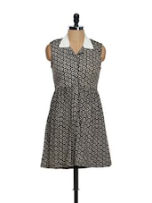 Floral Print Collared Dress - Magnetic Designs