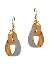 Golden And Silver Twisted Shaped Earrings - ChicKraft
