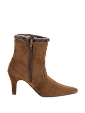 Stylish Brown Boots With Heels - Stylistry