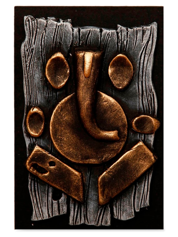 Buy Terracotta Abstract Ganesha Wall Décor by Unravel India - Online ...