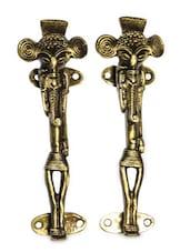 Tribal Brass Door Handle(Set Of 2) - Unravel India