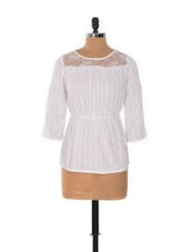 WHITE TOP WITH LACY NECK - House Of Tantrums
