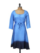 Blue And Black Ombre Dress - Meira