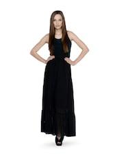Ruffled Black Long Skirt - URBAN RELIGION