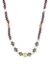 BROWN BEADED NECKLACE - THE BLING STUDIO
