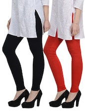 Cotton Lycra Leggings- Pack Of 2 - By - 892850