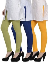 Cotton Lycra Leggings- Pack Of 3 - By - 893204