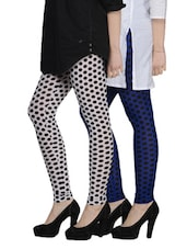 Cotton Lycra Leggings- Pack Of 2 - By - 893310