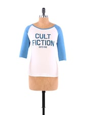 White And Blue Printed Top - CULT FICTION