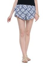 Geometric Print Cotton Shorts - Hypernation