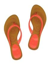 Pink Three Strap Flip Flops - ZACHHO