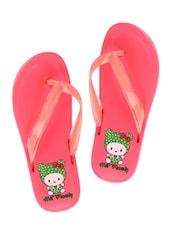 Cute Hat Family Pink Flip Flops - ZACHHO