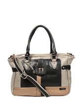 Unique Grey And Black Tote Bag Which Comes With A Shoulder Strap - Reyna