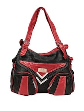 Simple Black And Red Tote Bag - Reyna