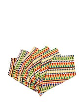 Zig-Zag Chakra Hand Towels Set Of 6 - The Elephant Company