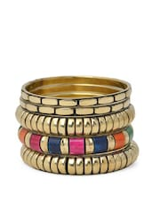 Metallic Colourful Bangle Set -  online shopping for bracelets