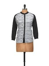 Black And White Printed Shirt - L'elegantae