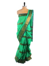 Elegant Green Saree With Blouse Piece - ROOP KASHISH