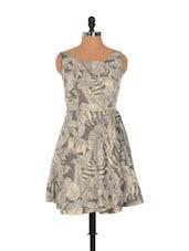 Tropical Print Dress With A Cut-out Back - Nangalia Ruchira