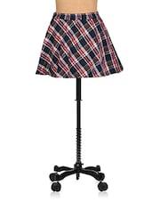 Checquered Wool Blend Skater Skirt For Winters - Nangalia Ruchira