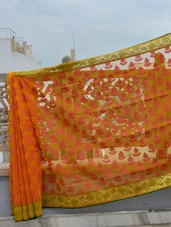 Patterned Net Banarasi Saree - BANARASI STYLE