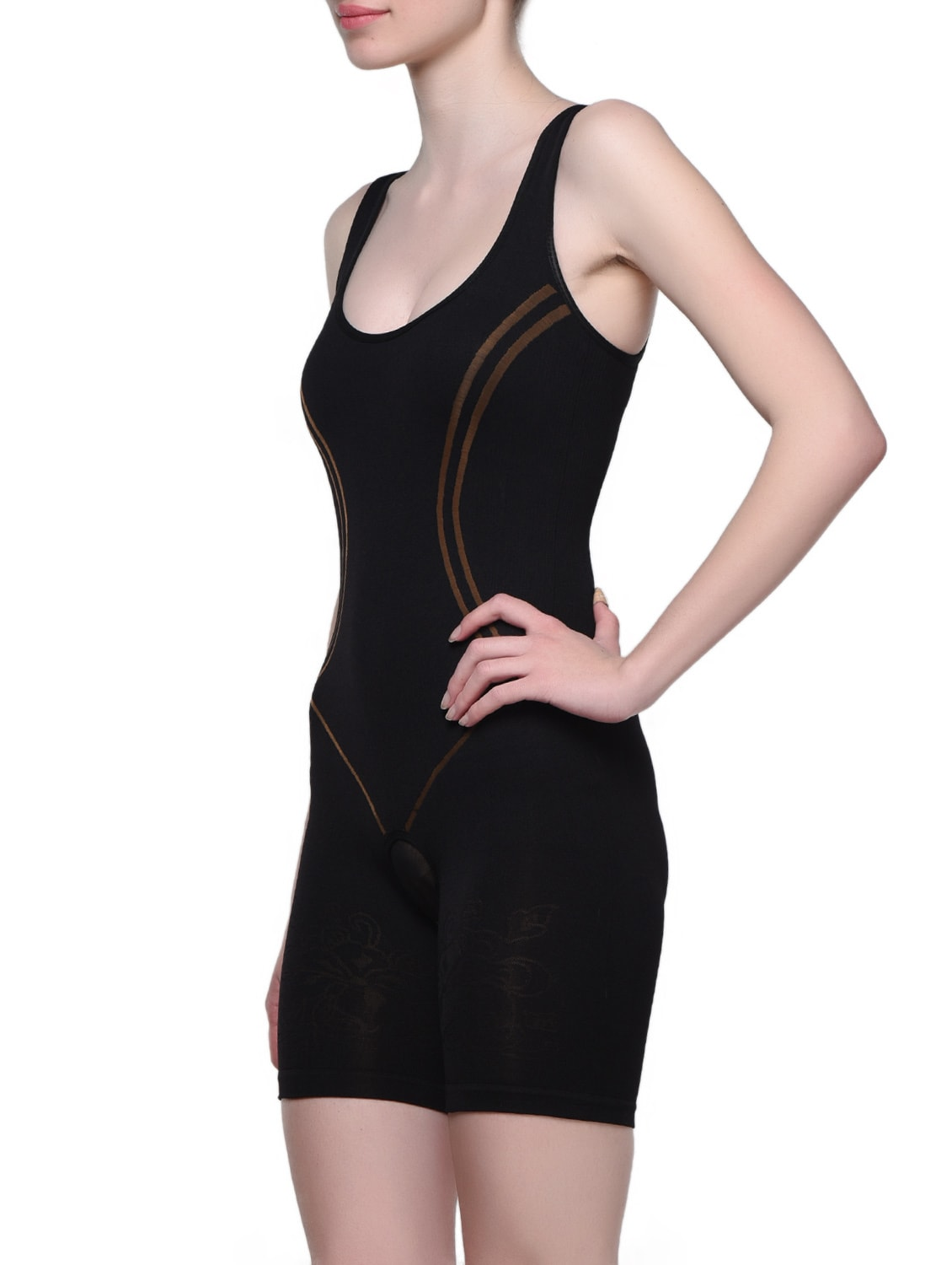 e9bbae1278 Buy Black Round Neck Body Shaper by Clovia - Online shopping for Shapewear  in India