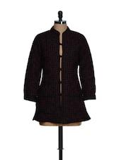 Polyester Lined Black Jacket - Feyona