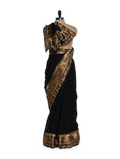 Regal Antique Black Georgette Saree - Get Style At Home