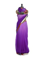 Purple Mauve Georgette Saree - Get Style At Home