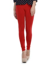 Sizzling Red Seamless Leggings - TSG Breeze Treat