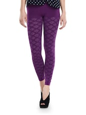 Patterned Purple Seamless Leggings - TSG Breeze Treat