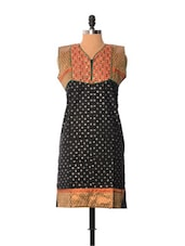 Black Printed Kurti - Little India