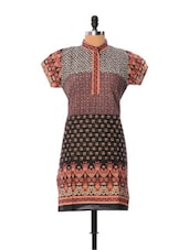 Multicoloured Printed Cotton Kurti - Little India