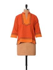 Bright Orange Cotton Top - Little India
